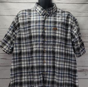 Carhartt Men's XXL Plaid Button Down SS Shirt